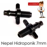 Nepel Ulir 7 mm Hidroponik Neple Nipple Air Fertigasi Irigasi 7mm