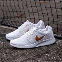 Sepatu Nike Kaishi Run White Motif Rose Gold Putih Emas Original