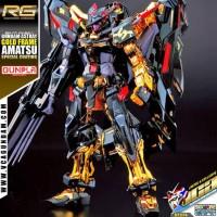P. Bandai RG Gundam Astray Gold Frame Amatsu mina ( special coating )