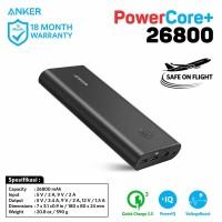 ANKER PowerBank PowerCore+ 26800 mAh QC 3.0 Black - A1374