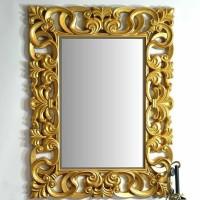 figura cermin ukir kayu jati