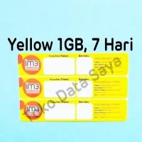 Voucher Kuota Data Indosat Yellow 1GB, 7 Hari