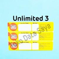 Voucher Kuota Data Indosat Unlimited 3