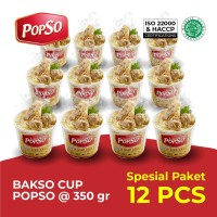 Bakso Cup PopSo Paket isi 12 cup @ 350 gram