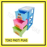 TERLENGKAP Lemari Plastik Lion Star Kabinet Susun 3 Infini Container M