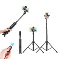 Tongsis Tripod Fleksibel 55inci dengan Remote untuk iPhone x 8 7 6