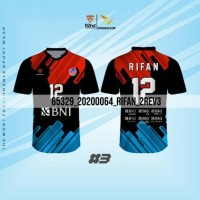 Baju Voli Terbaru BNI 46 Termurah (Bebas Tambah Nama & Nomor)