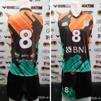 Kostum jersey baju singlet voli proliga Jakarta BNI 46 kengsi printing