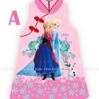 Terbaru Ready Stok  Dress Anak Baju Cheongsam Imlek Frozen 7 - 12 Th