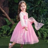 Terbaru Ready Stok  Baju Dress Cheongsam Princess Frozen Elsa Imlek