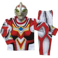 Terbaru|Ready Stok| Baju Anak Kostum Topeng Superhero Ultraman Go -