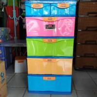 Promo! Lemari Plastik Lion Star susun 4 Plus laci kecil 2