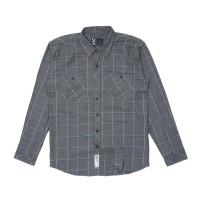 Kemeja Flanel Lengan Panjang Monochrome LS Smoke Grey Shirt