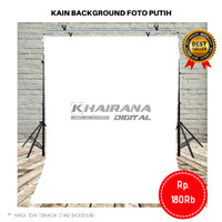 Kain Background Backdrop Studio Foto 3x2.5 Meter -PUTIH POLOS-
