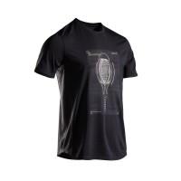 Baju tenis pria tennis t-shirt black racket