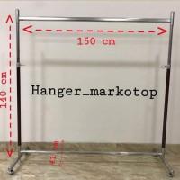 Hanger Gantungan Baju Model Gawangan (150cm) |