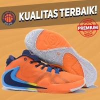 Sepatu Basket Sneakers Nike Greek Freak 1 All Bros Orange Pria Wanita