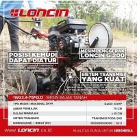 Traktor Mini Loncin Tiller Cultivator Mesin Bajak Lahan Kering / Basah