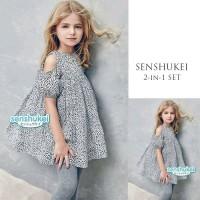 Blouse Anak Perempuan Sabrina Leopard Import / Baju Atasan Anak Korea