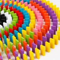 Mainan BALOK WARNA 120 Pcs Balok Domino Polos Balok Susun Puzzle Kayu