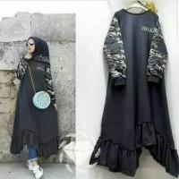 Baju Gamis Set Wanita Baju Muslim, VERSACE Army Tunik SL