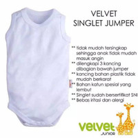 Velvet Junior Singlet Baju Bayi Jumper SML GROSIR PER 3 PCS