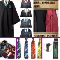 Paket Kostum Harry Potter Anak: Jubah+Dasi+Tongkat+Syal