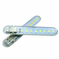 Lampu mini usb light 8 led lamp emergency portable lampu baca