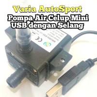 Pompa Aquarium Mini USB M1 Selang 1 Meter Pompa Air Celup Submersible