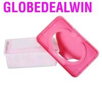 Globedealwin Kotak Holder Tissue Basah Bahan Plastik Dengan Tutup