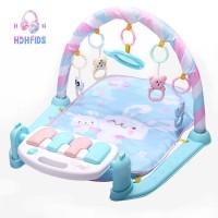 Play Matras Musikal Warna Biru untuk Bayi 0-12 Bulan