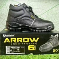 Krisbow Safety Shoes Arrow 6 Inch Hitam - Sepatu Safety Pengaman