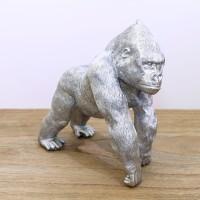 Polyresin 10 Gorilla, Silver