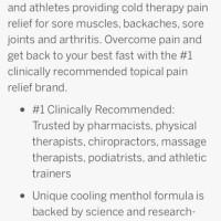TERLARIS Biofreeze Pain Relief Cream 3oz Cold Therapy Arthritis
