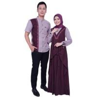 TERLARIS Sarimbit Olive Elzatta Hijab Baju Couple Muslim
