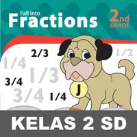 Fall Fractions Buku Keterampilan Aktivitas Kelas 2 SD Matematika