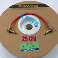 Kabel jumper efek gitar 25 cm canare merah