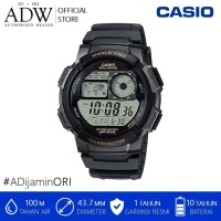 CASIO MEN'S RESIN SPORT WATCH WITH BLACK BAND - AE-1000W-1AVCF