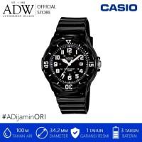 Jam Tangan Wanita / Casio Black Resin Analog Watch LRW-200H-1BVDF