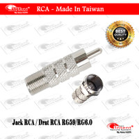 Jack CCTV Konektor BNC / RCA Drat Camera untuk Coaxial RG59 dan RG6