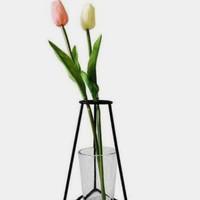 dudukan / rak pot tanaman bunga hias - Putih