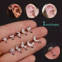 Piercing earring stainless tragus helix tipe 1 - 10