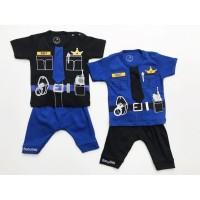 Setelan Baby 1-2thn Polisi Baju Anak Murah Baju Tidur Anak All size