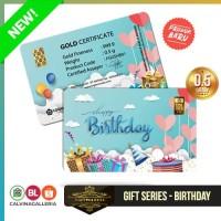 Emas Antam 0,5 Gram Gift Series - Gift Card Happy Birthday
