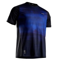 Baju tenis pria tennis t-shirt black blue
