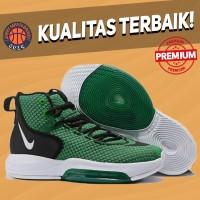 Sepatu Basket Sneakers Nike Zoom Rise Green White Pria Wanita