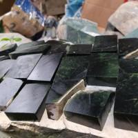 Natural lempengan black jade aceh ukuran kecil