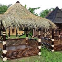 Saung Gazebo Bambu Atap Alang-alang ukuran 2x1.5 Kota Serang