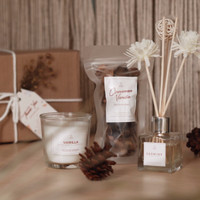 Vanilla Pamper Box - Scented Candle Hampers - Parcel Hadiah - Gift Box
