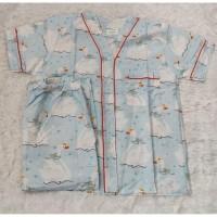 Baju Piyama Anak Katun - Swan Warna Blue (Size 10)